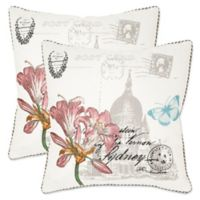 Safavieh Gloria 22-Inch x 22-Inch Throw Pillows in White (Set of 2)