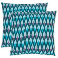 Safavieh Luca 18-Inch x 18-Inch Throw Pillows in Blue (Set of 2)