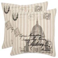 Safavieh Lucas Throw Pillows in Taupe (Set of 2)