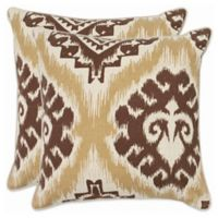Safavieh Lucy 22-Inch x 22-Inch Throw Pillows in Almond (Set of 2)