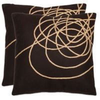 Safavieh Coiled Darter Throw Pillows in Brown/Tan (Set of 2)