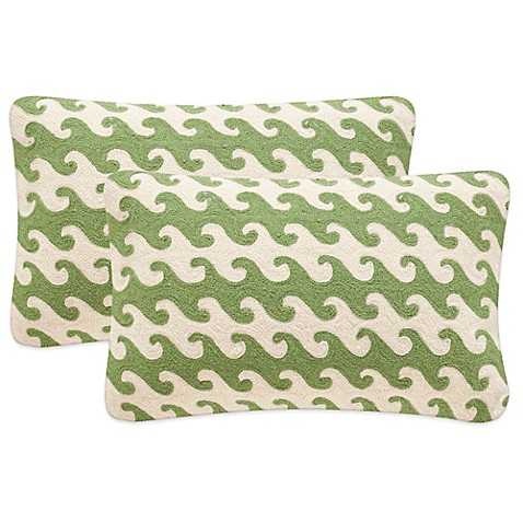 image of Safavieh Linos Throw Pillows in Green (Set of 2)