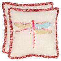 Safavieh Azure Demoiselle Throw Pillows in Beige (Set of 2)