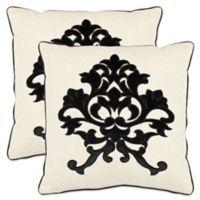 Safavieh Mason Throw Pillows in Onyx (Set of 2)