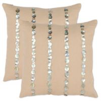 Safavieh Jenna Throw Pillows in Almond (Set of 2)