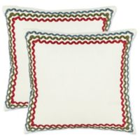 Safavieh Annie Throw Pillows in White (Set of 2)