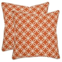 Safavieh Alice Throw Pillows in Brown (Set of 2)