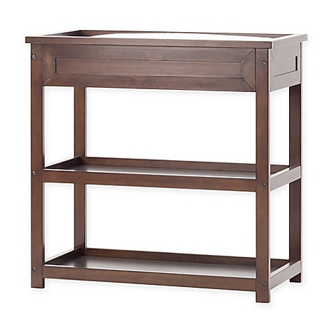child craft abbott changing table in walnut buybuy baby. Black Bedroom Furniture Sets. Home Design Ideas