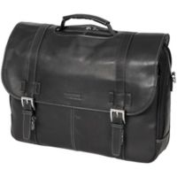 Kenneth Cole Reaction Colombian Leather Flapover Briefcase in Black