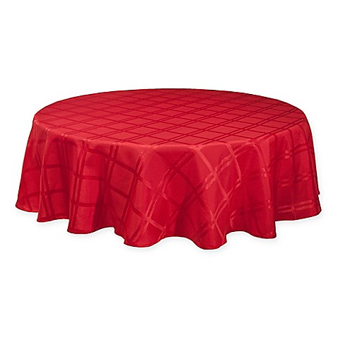 Origins Holiday 70 Inch Round Tablecloth In Red Bed Bath