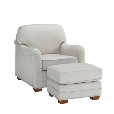 Merveilleux Home Styles Heather Upholstered Chair And Ottoman In Off White