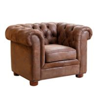 Abbyson Living® Kids Tufted Armchair in Antique Brown