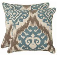 Safavieh Amiri 22-Inch x 22-Inch Throw Pillows in Powder Blue (Set of 2)