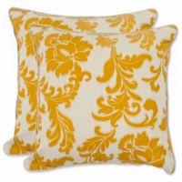 Safavieh Aubrey 18-Inch x 18-Inch Throw Pillows in Apricot (Set of 2)