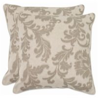 Safavieh Aubrey 18-Inch x 18-Inch Throw Pillows in Grey (Set of 2)