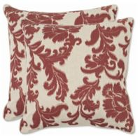 Safavieh Aubrey 22-Inch x 22-Inch Throw Pillows in Bordeaux (Set of 2)