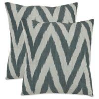 Safavieh Chevron 18-Inch x 18-Inch Throw Pillows in Silver (Set of 2)