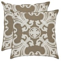 Safavieh Collette 18-Inch x 18-Inch Throw Pillows in Olive (Set of 2)
