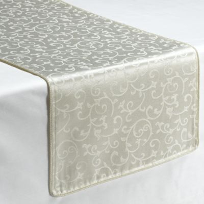 Lovely Lenox® Opal Innocence™ 90 Inch Decorative Table Runner In White