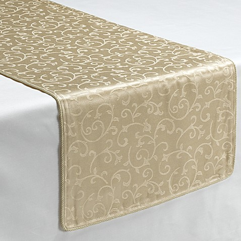 Lenox 174 Opal Innocence Ivory Decorative Table Runner Bed
