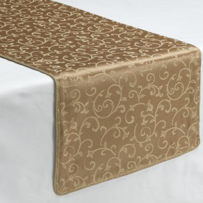 Lenox Opal Innocence Gold 70 Inch Decorative Table Runner