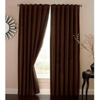 Absolute Zero 108-Inch Velvet Blackout Home Theater Curtain Panel in Chocolate