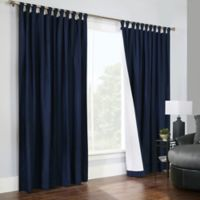 Thermalogic® Weathermate 84-Inch Double-Wide Tab Top Window Curtain Panel Pair in Navy