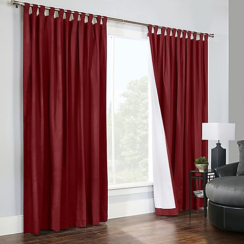 Buy Thermalogic Weathermate 84 Inch Double Wide Tab Top Window Curtain Panel Pair In Burgundy
