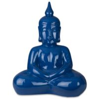 Style Statements by Surya Hysla Ceramic Sculpture in Cobalt