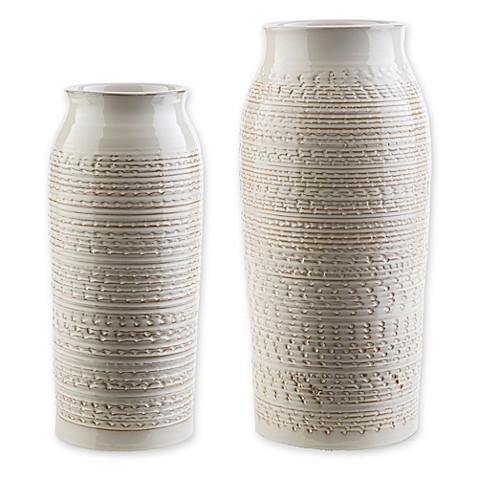 Surya Yaraka Ceramic Table Vase In Beige Bed Bath Amp Beyond