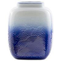Surya Cani Ceramic Table Vase in Blue/White