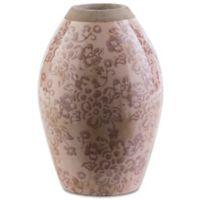 Surya Sesto Ceramic Table Vase in Taupe/Chocolate