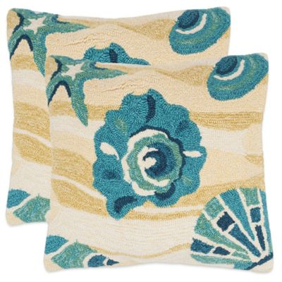 safavieh beyond the sea throw pillows in beach yellow set of 2