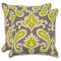Safavieh Dylan 18-Inch x 18-Inch Throw Pillows in Lime (Set of 2)
