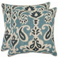 Safavieh Dylan 18-Inch x 18-Inch Throw Pillows in Blue (Set of 2)