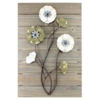 Janele Wall Art Plank Flowers