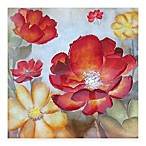 Red Floral Lacquer Wall Art