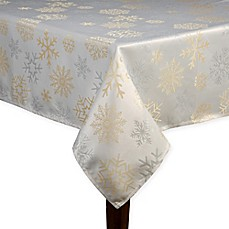 Buy Snowflake Shine Oblong Tablecloth From Bed Bath Amp Beyond