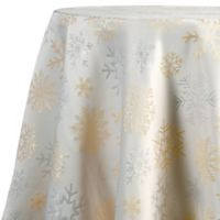 Snowflake Shine Oblong Tablecloth