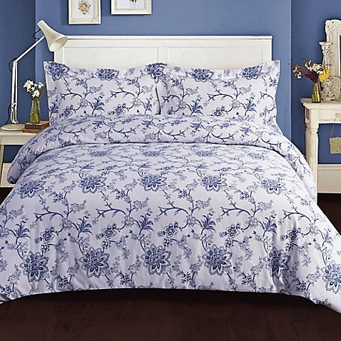 Tribeca Living Floral 200 Gsm Printed Flannel Duvet Cover