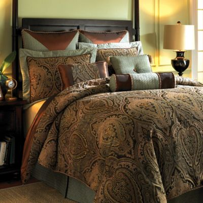 Hampton Hill Canovia Springs Queen Comforter Set In Rust