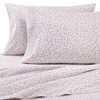 Printed/Solid Microfiber Twin Sheet Set in Pink