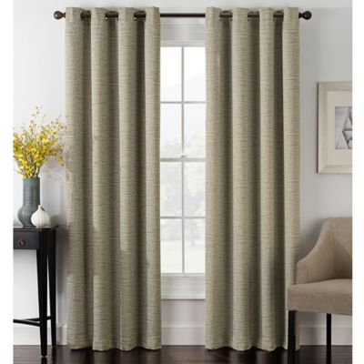 blackout bedroom curtains. Foray 84 Inch Blackout Grommet Window Curtain Panel in Stone Buy Curtains from Bed Bath  Beyond
