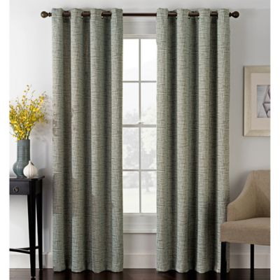 foray 63inch blackout grommet window curtain panel in pewter - 63 Inch Curtains