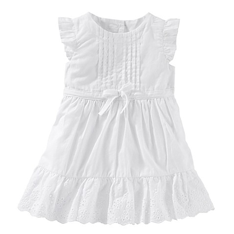 OshKosh Baby B gosh 2 Piece Flutter Sleeve Eyelet Dress