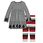Burt's Bees Baby Size 0-3M 2-Piece Fair Isle Dress and Legging Set