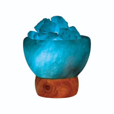 Himalayan Ionic Salt Crystal Fire Bowl Table Lamp in White - Bed Bath & Beyond