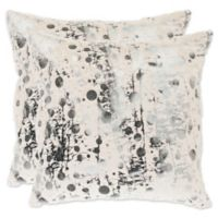Safavieh Nars 20-Inch Square Throw Pillows in White (Set of 2)