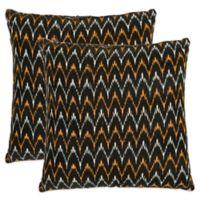 Safavieh Ryder 18-Inch Throw Pillows in Black (Set of 2)