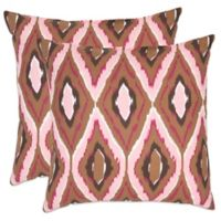 Safavieh Sophie 18-Inch x 18-Inch Throw Pillows in Pink (Set of 2)
